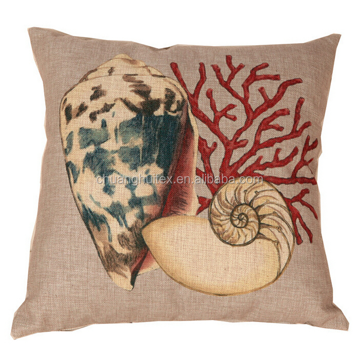 high quality printed linen cotton backrest floor cushion