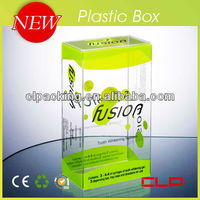 New high quality clear plastic handles corrugated boxes