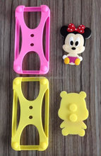 universal silicone bumper case with 3D cartoon character