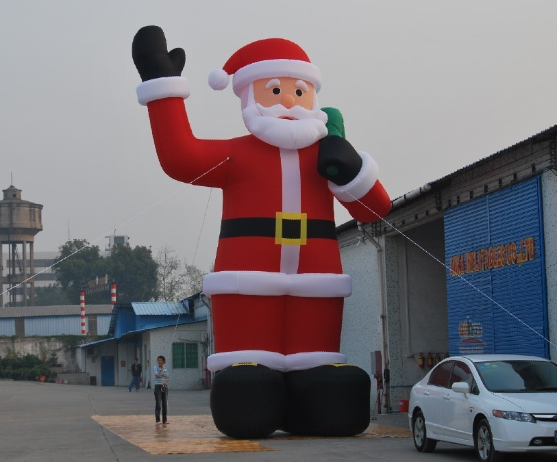 M high inflatable giant christmas santa claus air dancer