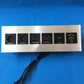 Face panel mount EU ac multiple power socket with VGA port for office table/hotel wall