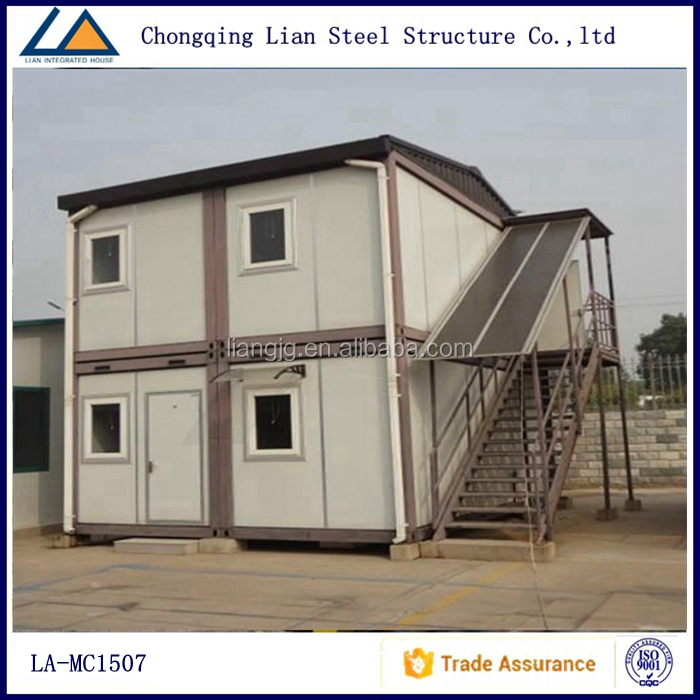 Cheap Price living luxury container house 2 storey prefabricated house light steel frame villa