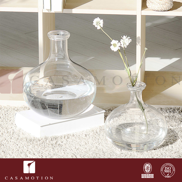 Wholesale China CASAMOTION Brand Crystal Clear Glass Flower Vase for Water Planting & Wedding Decoration