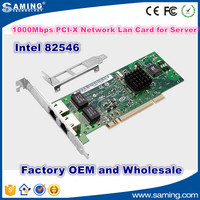 1000Mbps original intel 8492MT 82546(PXE) PCI-X network card for soft routing Server