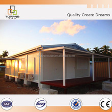 Easy build prefab shop container house for sale