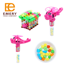 Adorable Cartoon Plane Toy Filled Tablet Candy Plane Shaped Whistle Toy Hard Candy