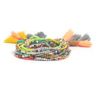 Handmade Multi-layer Small Glass Seed Beads Tassel Friendship Bracelets