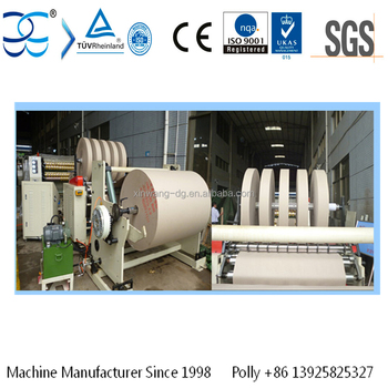 Kraft Paper Slitter Rewinder Machine To Slit And Rewind Paper From Jumbo Roll To Small Roll