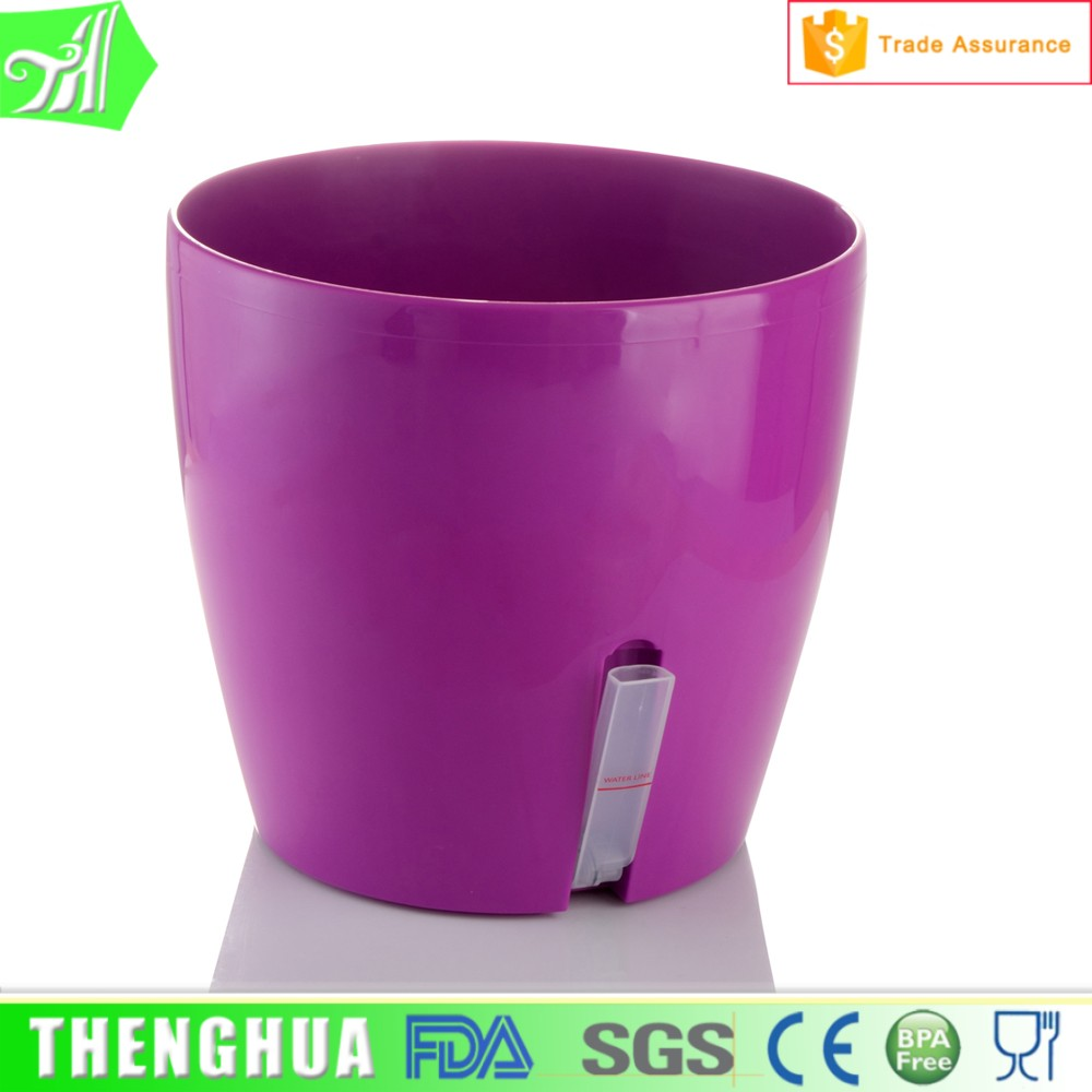 various size! outdoor large flower pots plants purple plastic plant pot