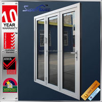 Australia AS2047 Standard commercial double glass economic outdoor room folding door