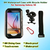2015 New Touch Screen IPX8 8M Waterproof Smartphone Bicycle Motor Golf Holder Diving Protective Cover Bag for Samsung Galaxy S6