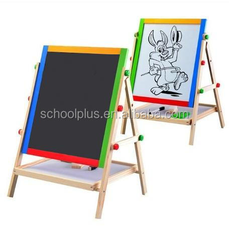 wooden easel / blackboard & white board with liftable stand