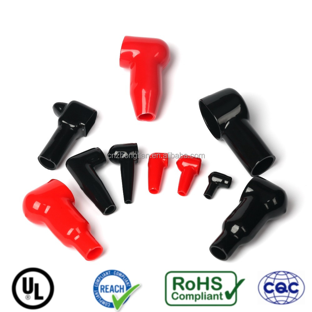 Motorcycle soft pvc cable battery terminal covers