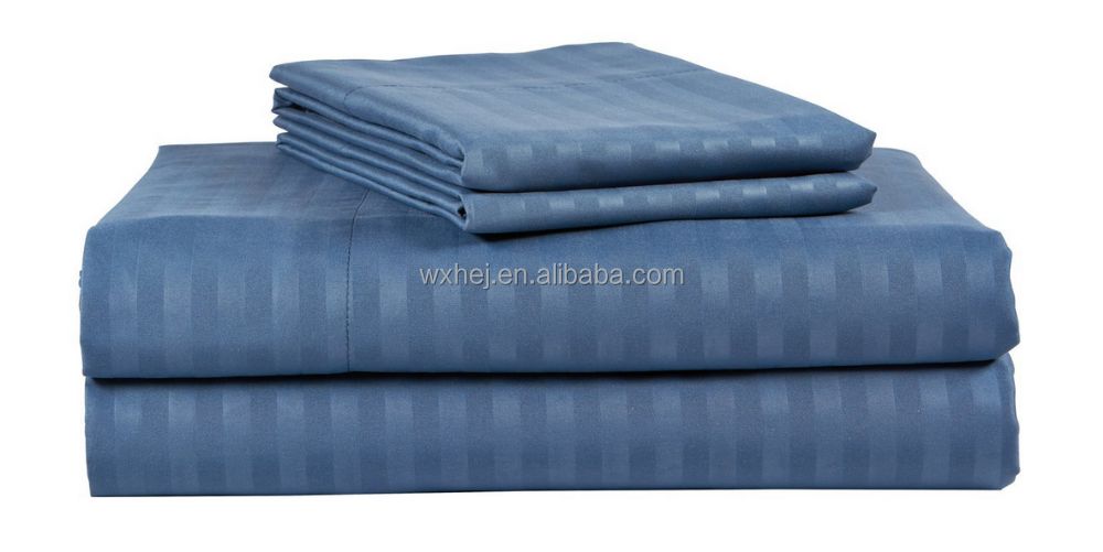 100% cotton plain/sateen/sateen strip/jacquard hotel bed sheets from china supplier