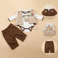 winter 3pcs baby set baby vest baby sensory toy set