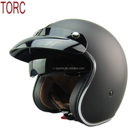 2016 New arrival TORC vintage motorcycle helmet jet scooter moto helmets with inner lens can add snap bubble shield and lens
