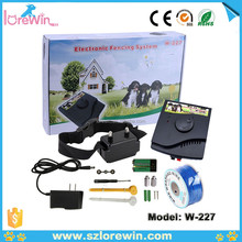 LoreWin W-227 Fashion Design Waterproof Electric Fence Dog Collar, Electronic Rechargebale In-Ground Wireless Pet Dog Fence