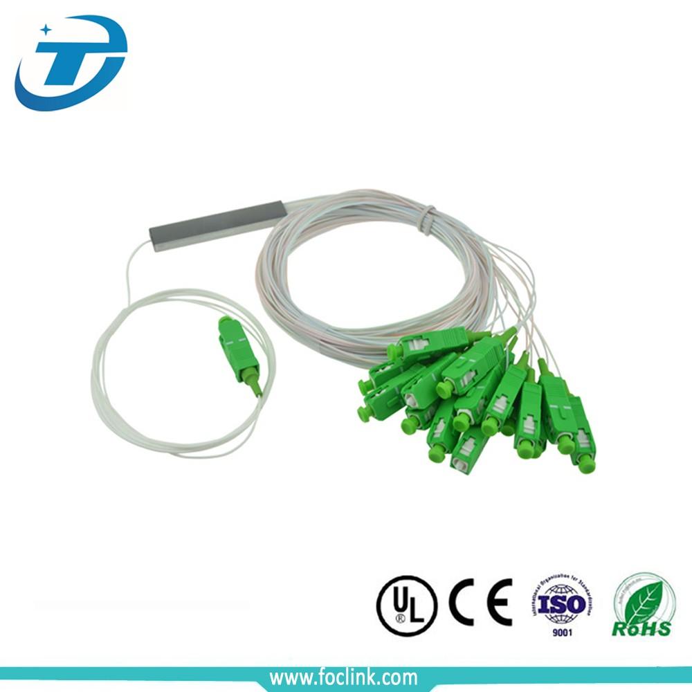 1X16 sc apc steel tube splitter