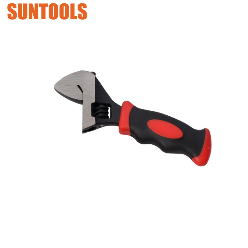 Professional Dipped Handle Mini Ratchet Adjustable Wrench