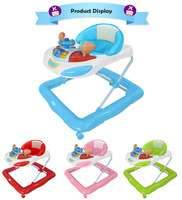 Rearview Mirror Racing Car Shaped Plastic Wheels Old Style Baby Walker
