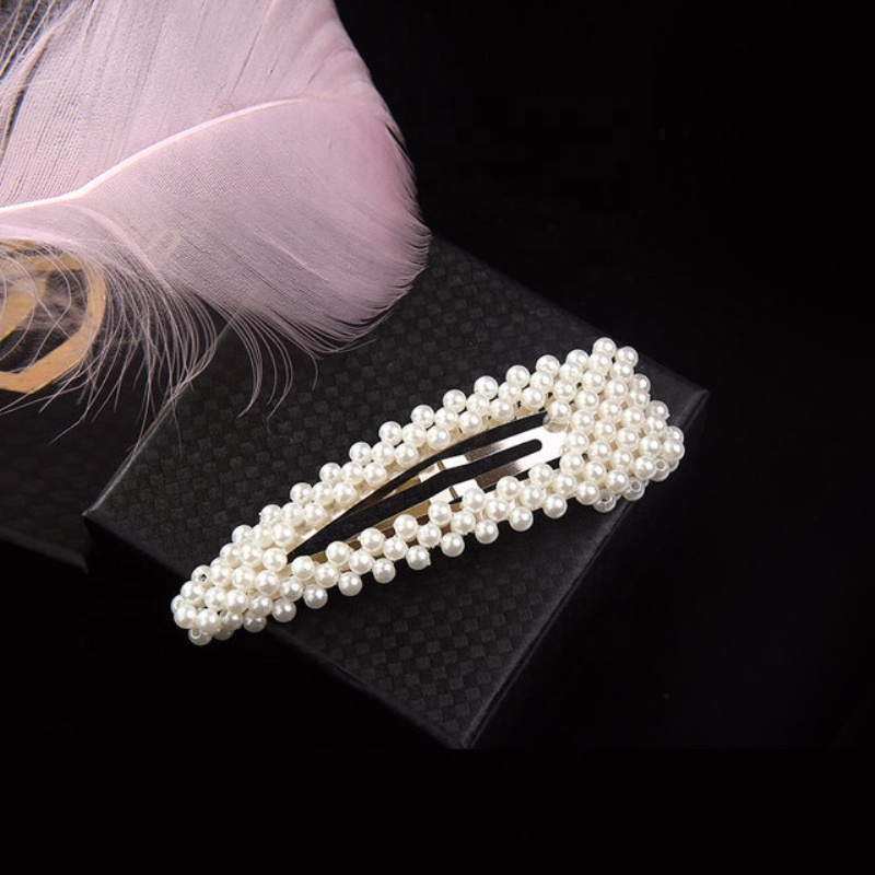 Fashion Hair Claws Imitation Pearl Lady Headwear Accessories For Women Hairpins Plastic Elastic Barrette Hot As Effectively As A Fairy Does Apparel Accessories Girl's Hair Accessories