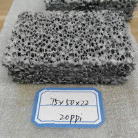 Silicon carbide foam ceramic filter