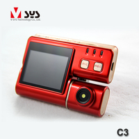 shenzhen make dual external lens real HD 720P rear view camera for motorcycle