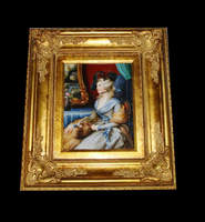 Antique Gilt Frame Oil Painting, Aristocratic Oil Painting Art and Craft