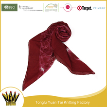 Hot selling 100 polyester printing lady scarf