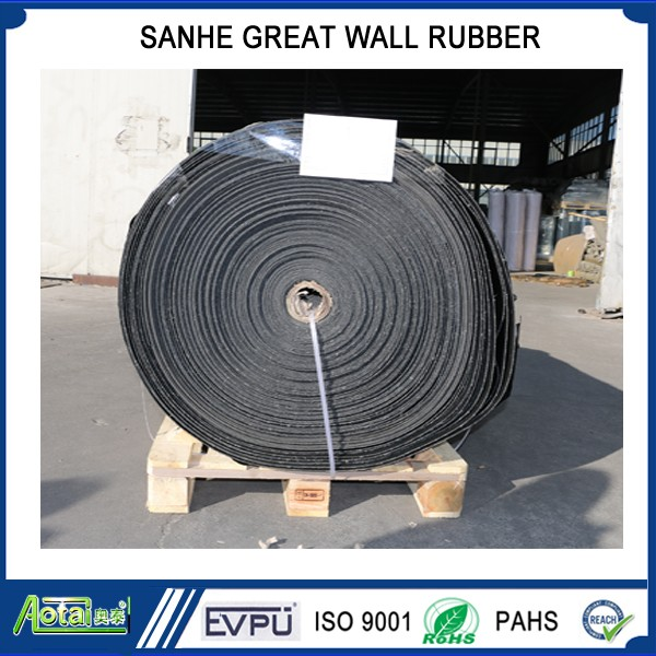 Good wear resistance low abrasion loss industrial mining Fiber reinforced rubber sheet roll