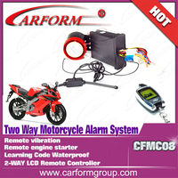 LCD remote controller two way motorcycle alarm system CFMC08