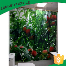Delicious Peaches digital print mildewproof waterproof shower curtain