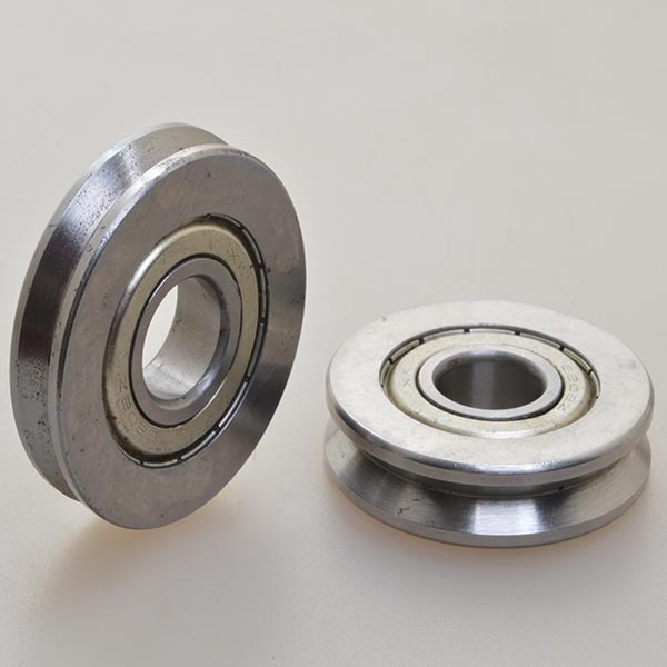 ABEC 1357 nylon wheel U V groove track ball bearing series sliding gate wheel BDC-BU002