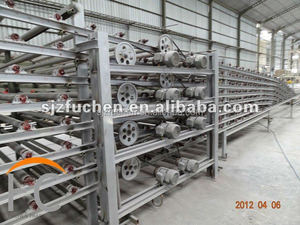 automatic hot air production line for gypsum board