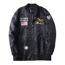 <strong>Men's</strong> Plus size bomber <strong>jacket</strong> <strong>men's</strong> embroidered fashion nylon coat