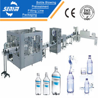 SUS304 SM F24-24-8 Full automatic drinking water bottling plant