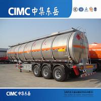 3 - axle 40CBM Fuel Tanker / Oil Diesel Transport Truck Semi Trailer for sale