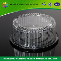 Disposable PET custom plastic cylindrical container