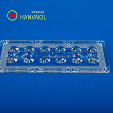 HANVNOL xpg 2 array 12 leds plasticp PMMA street light lens replace Ledil lens manufacturer