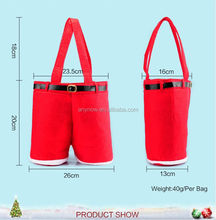 Beautiful lovely red celebrate kids children Christmas gift decoration wine candy bag