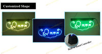 2013 hot products Fluorescent color chaning led mini sign board