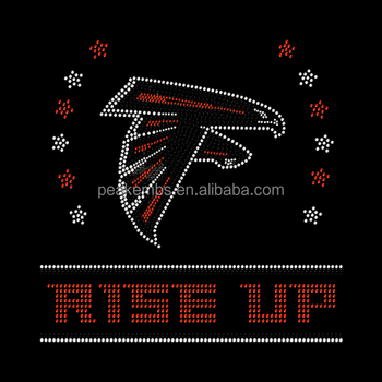 Wholesale Hotfix Rise Up Atlanta Falcons Rhinestone Transfer