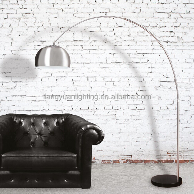hot selling huge size Steel and black marble adjustable Floor lamp for home