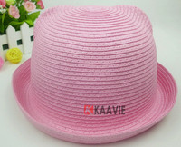 custom cute ear kids straw paper hat