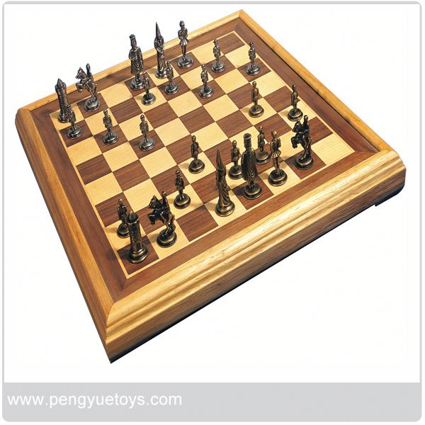 py5012 cheap wooden chess and draughts game