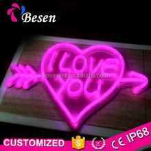 Light Modern Ring Heart Rainbow Image Led Wire String Neon Christma Tree