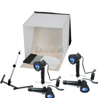 40CM Light Square Tent +4 Tripod Stand Bulb Photography studio kit