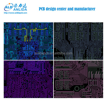Customized layers electronic FR4 pcb circuits board design layout