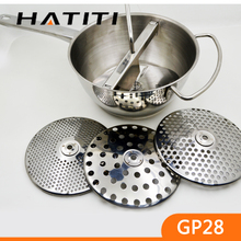 Kitchen gadgets manual stainless steel food mill vegetable mill GP28
