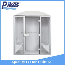 Easy installation acrylic material portable 4 people dry sauna wet steam shower for spa center